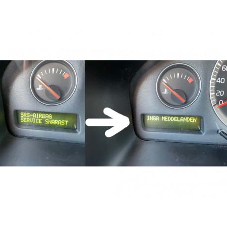 SRS-Airbag kit efter borttagning av baksäte Volvo