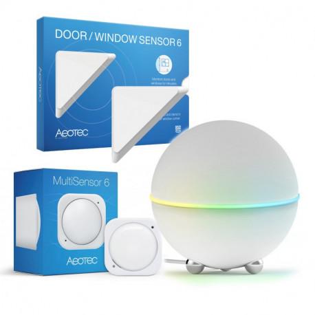 Startpaket Athom Homey med Aeotec Door/Window Sensor och Aeotec Multisensor