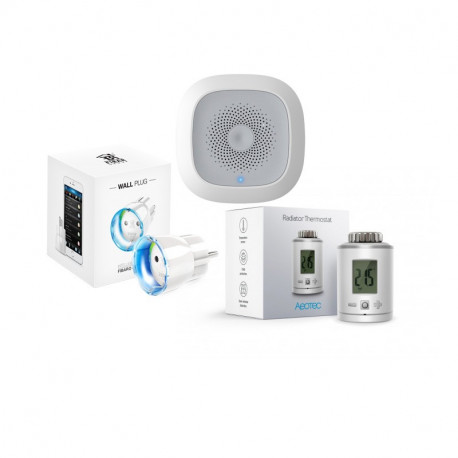 Startpaket HEIMAN Temperature med Fibaro Wall Plug & Aeotec Radiator Thermostat