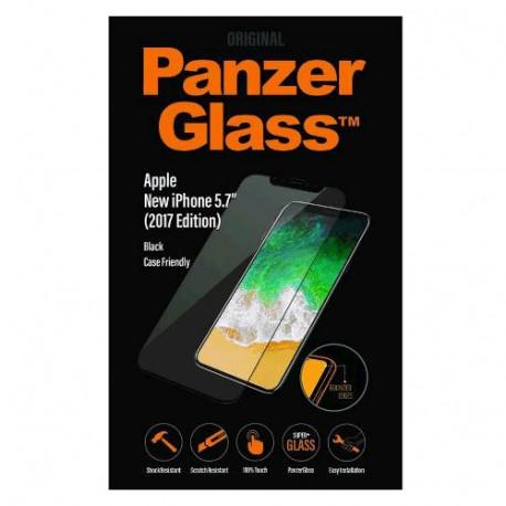 PanzerGlass - iPhone X Black Case Friendly