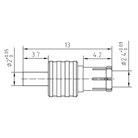 Adapter CRC-9 hona till TS9-hane