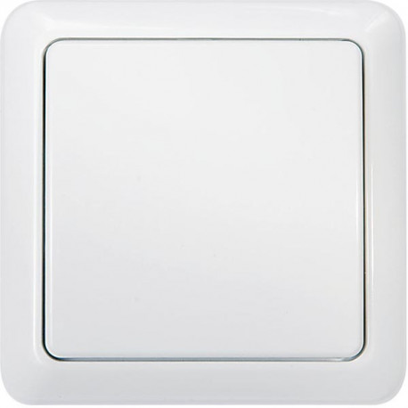 Nexa trådlös 1-vägs väggsändare med inbyggd timer, vit