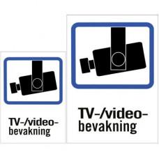 Plastskylt, TV/Video-bevakning, A4 & A5-storlek