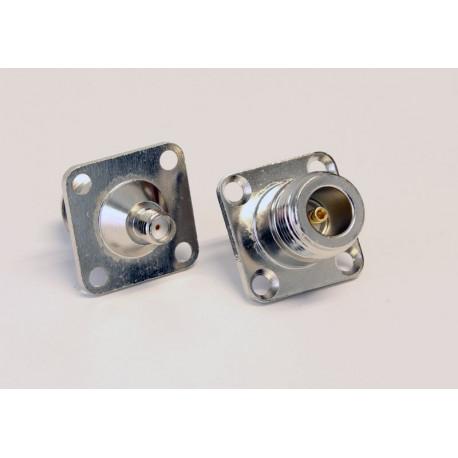 Adapter SMA-hona till N-hona för panelmontering