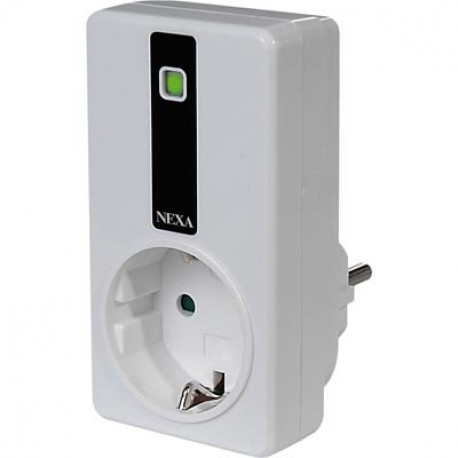 Nexa, fjärrstyrd strömbrytare, 2300W, 230V, jordad, På/Av, passar elektronisk trafo, självlärande, vit