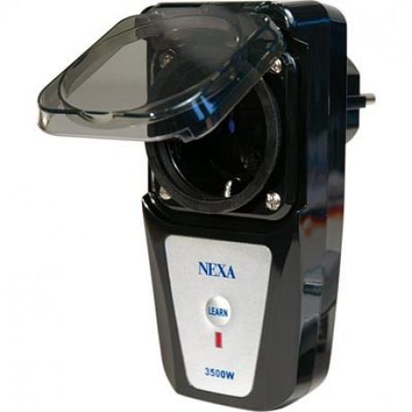 Nexa, fjärrströmbrytare för utomhusbruk, IP44, max 16A, självlärande