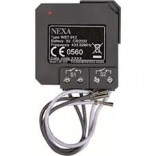Nexa WBT-912, trådlös sändare för montering med befintliga strömbrytare, självlärande och kompatibel med System Nexa Hemautomation