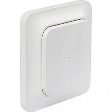 System Nexa Pro WT-2, trådlös väggsändare med strömbrytare, två kanaler, 433,92MHz, 50m räckvidd, IP20, vit
