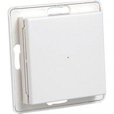 System Nexa Pro WTE-1, trådlös väggsändare med strömbrytare utan ram, en kanal, 433,92MHz, 50m räckvidd, IP20, vit Hemautomation