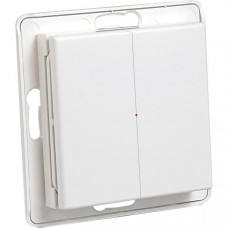 System Nexa Pro WTE-2, trådlös väggsändare med strömbrytare utan ram, två kanaler, 433,92MHz, 50m räckvidd, IP20, vit