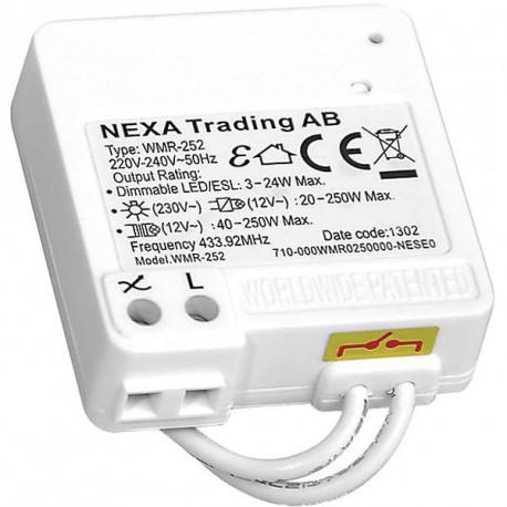 Nexa WMR-252, Dimmermottagare för koppling mot befintlig strömbrytare