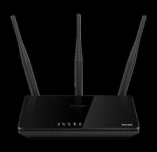 D-Link Trådlös router, Dual band, AC750, 4xRJ45 Lan portar, svart