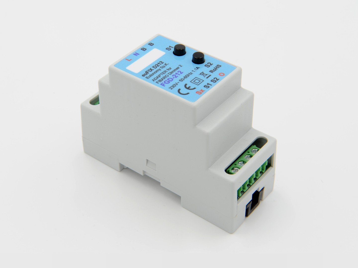 Eutonomy - euFIX D212 DIN adapter (with button)