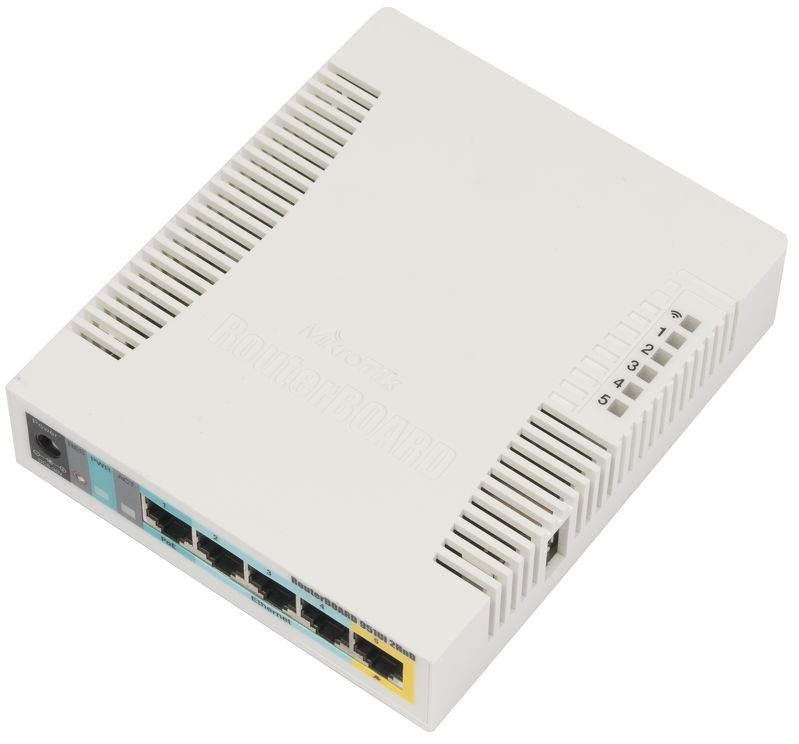 Mikrotik RB951ui-2HnD with 5xLAN w1xPOEout bgn radio 600MHz