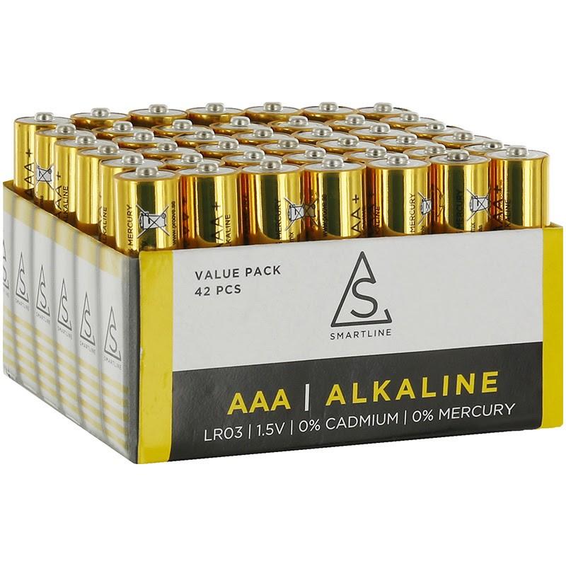 Alkaliska batterier AAA LR3 1,5V 42-PACK