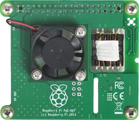 Power over Ethernet (PoE) HAT för Raspberry Pi 3 Model B+