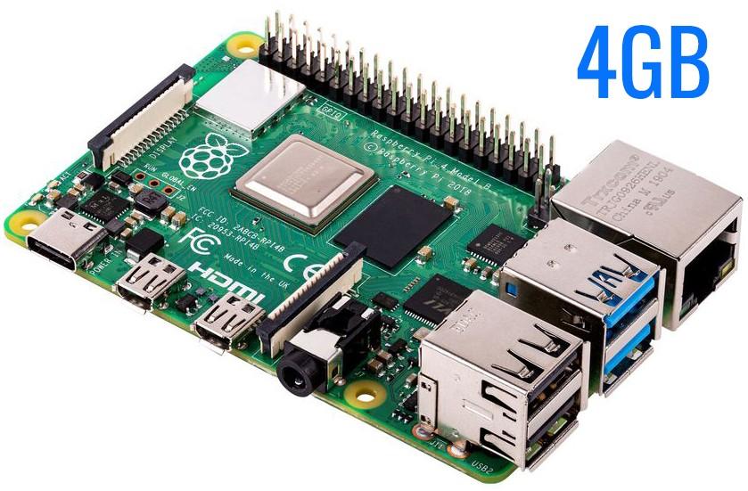 Raspberry Pi 4 Model B 4GB RAM SBC