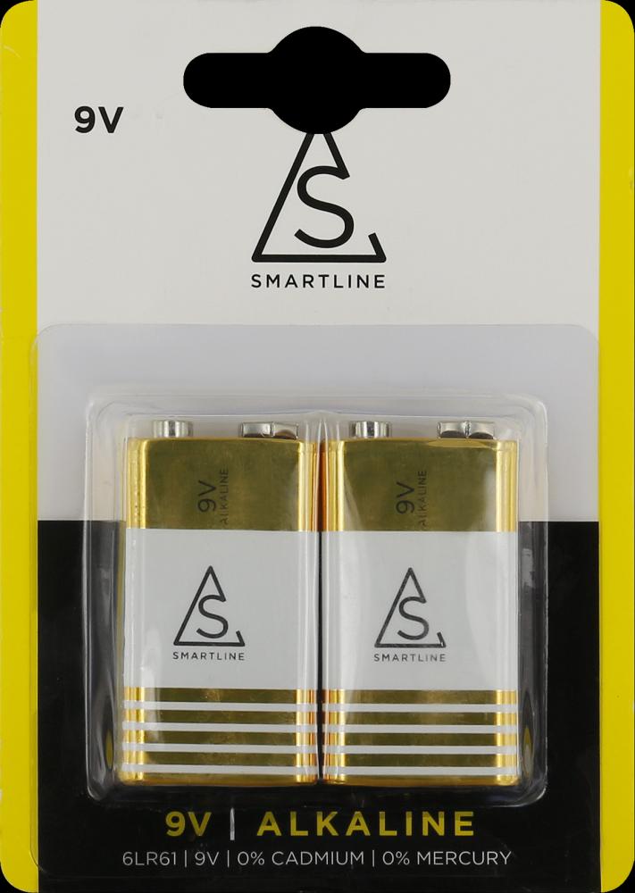 Smartline 9V batteri 2-pack