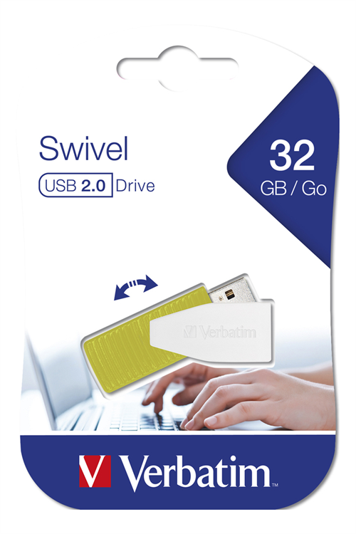 USB DRIVE 2.0 STORE N GO SWIVEL 32GB EUCALYPTUS GREEN