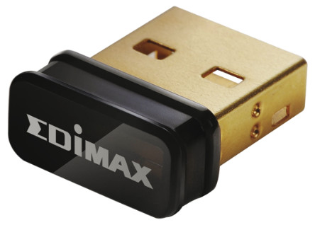 Edimax 2.4 GHz USB 2.0 Wireless Adapter, Up to 150Mbit/s (802.11b, 802.11g, 802.11n)