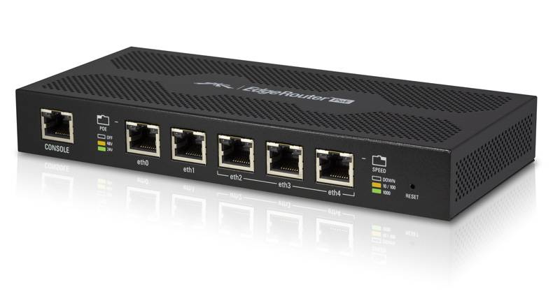 EdgeRouter 5xGEports 24V or 48VPoE