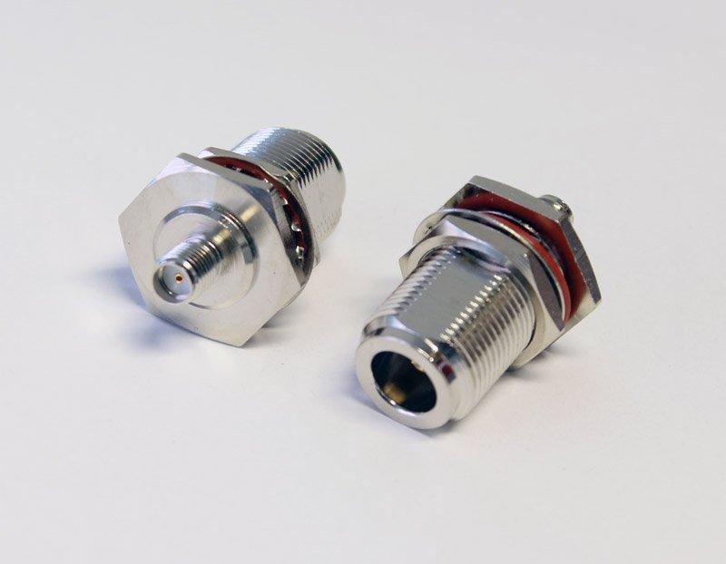 Adapter SMA-hona till N-hona för montering, O-ring