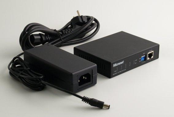 Micronet 5 port switch with 4 port PoE 65watts
